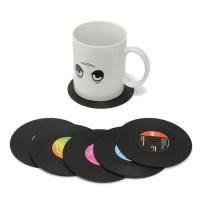Retro Vinyl LP onderzetters set van 6 stuks