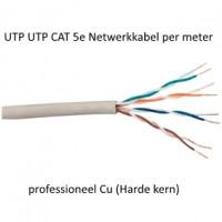 UTP CAT 5e Netwerkkabel professioneel Cu (Harde kern) 100 meter