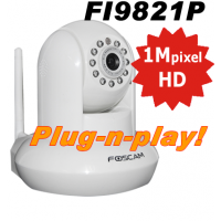 Foscam FI9821P Wifi Pan-Tilt HD Camera Plug-n-Play Wit