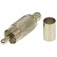 RCA (cinch/tulp) krimpconnector voor RG59 Coaxkabel