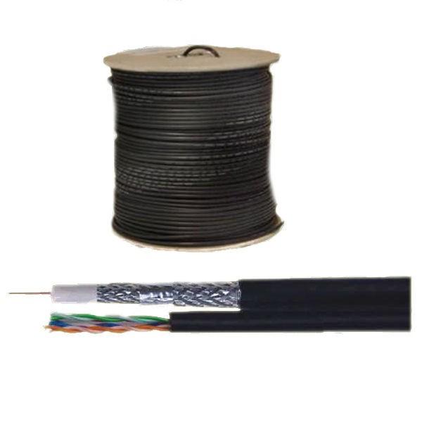 coax kabel combikabel rg59 utp cat 5e 250m op haspel. Black Bedroom Furniture Sets. Home Design Ideas